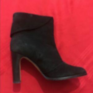 Kors Black suede heels boot